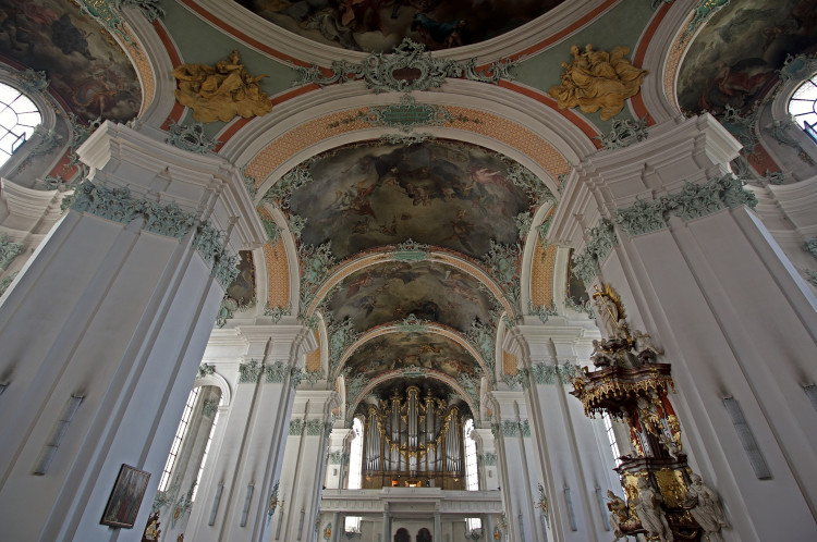 Inside the St. Gallen Cathedral