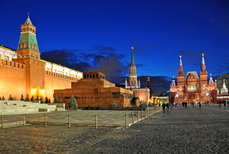 Red Square and Lenin's Mausoleum in Moscow