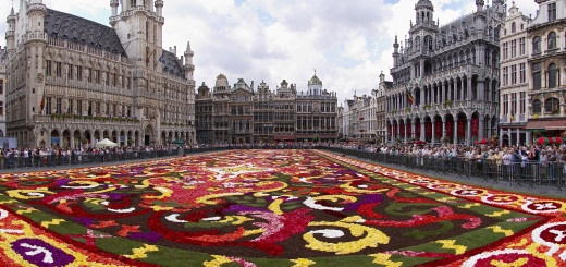 Brussels floral carpet Belgium