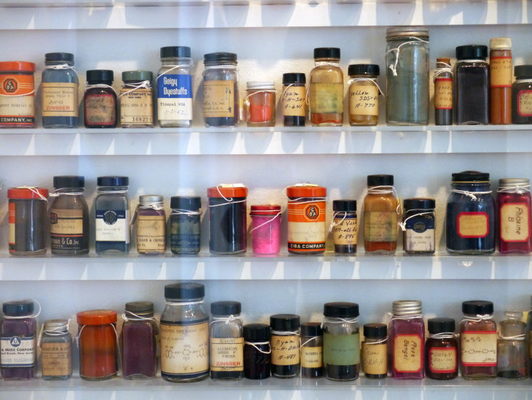 Jars of photographic developers at the George Eastman House, International Museum of Photography and Film.
