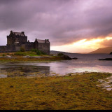Medieval castle Eilean Donan on the road to the Isle of Skye