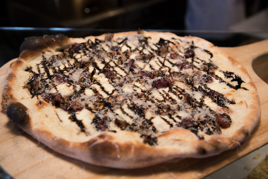 Duck and Grapes Pizza. A French classic transformed into this delicious pie. Credit:
