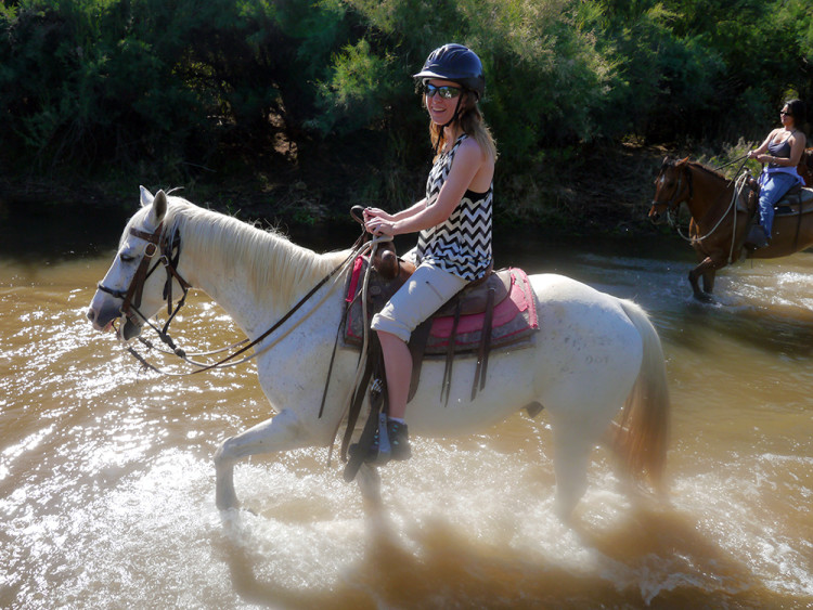 Horseback riding with Fort McDowell Adventures