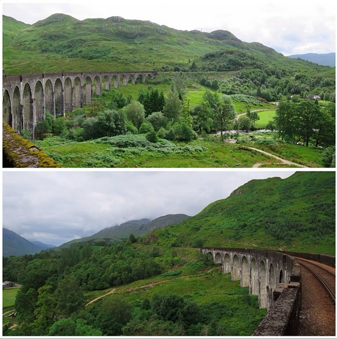 The Harry Potter bridge, also known as the Glenfinnan Viaduct