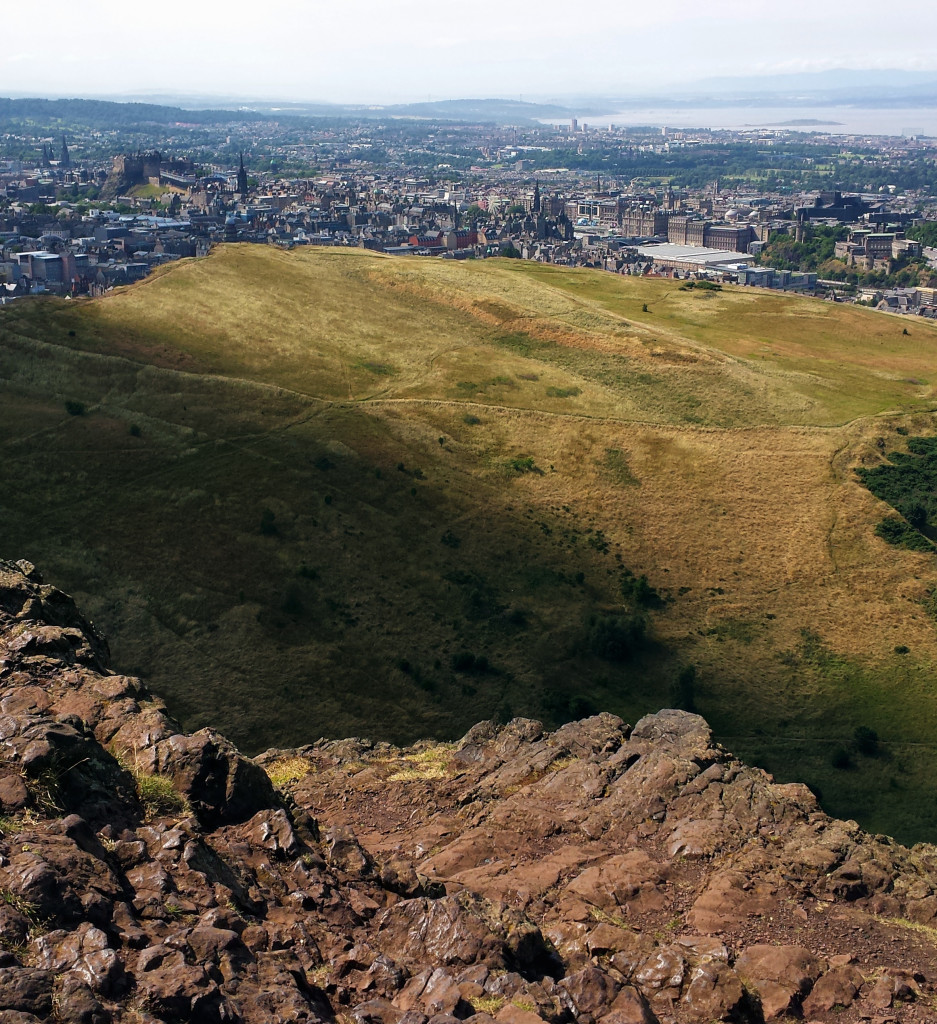 View from Arthur's Seat in Edinburgh