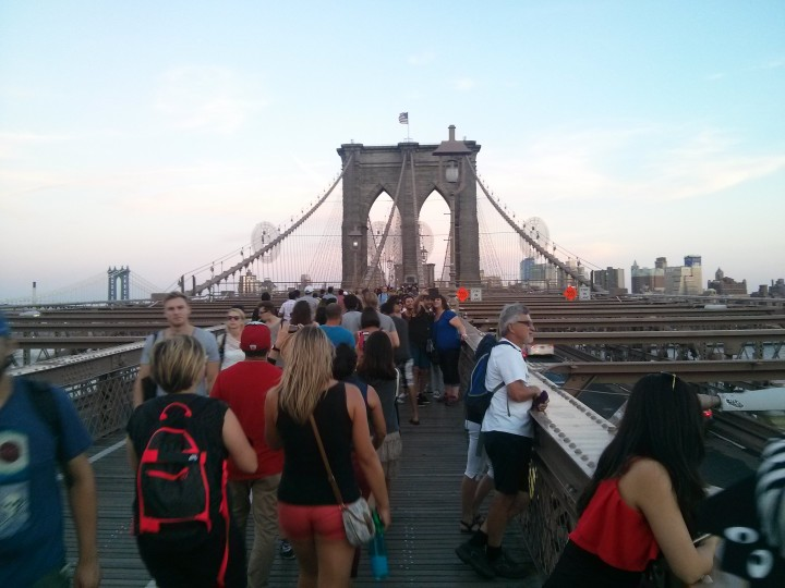 What lies at the end of the Brooklyn Bridge? Noodle Pudding! Credit: Caitlin Boros