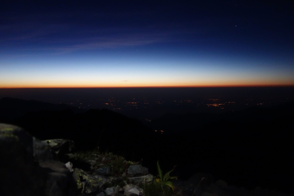Dawn from 3000 meters of altitude