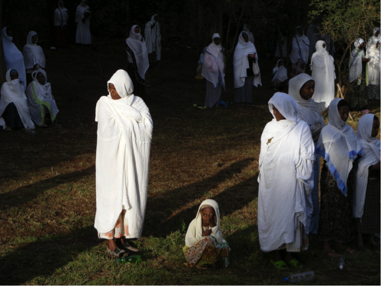 Ethiopian women after a church service. Credit: Sam McManus