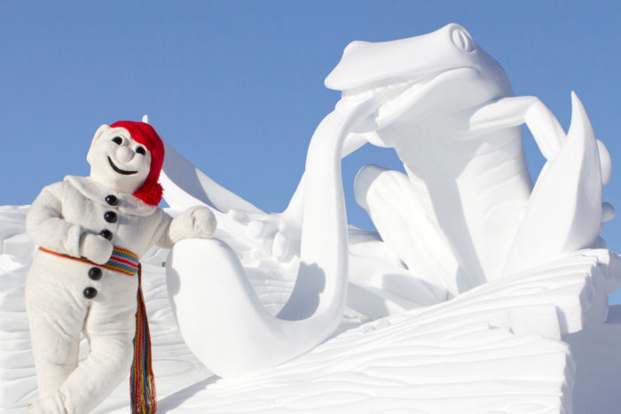 Bonhomme and Winter Carnaval in Quebec City